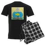 Fishbowl Circles Men's Dark Pajamas
