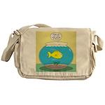Fishbowl Circles Messenger Bag