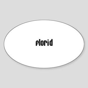 Florid Oval Sticker