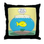 Fishbowl Circles Throw Pillow