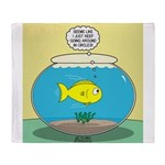 Fishbowl Circles Throw Blanket