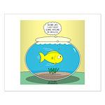 Fishbowl Circles Small Poster