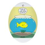 Fishbowl Circles Oval Ornament