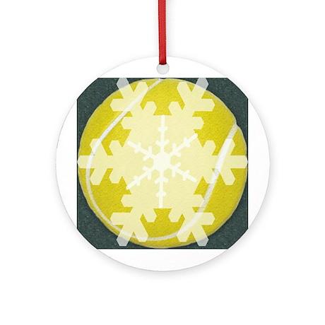 Snowflake Tennis Christmas Ornament (Round)