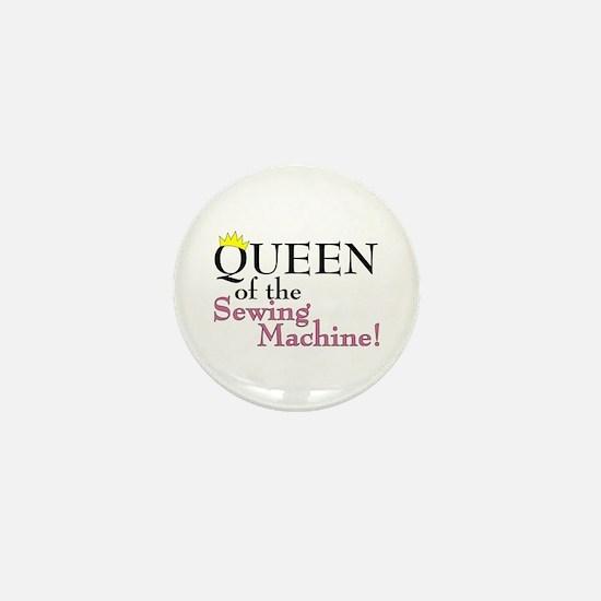 Cute Knitting queen Mini Button