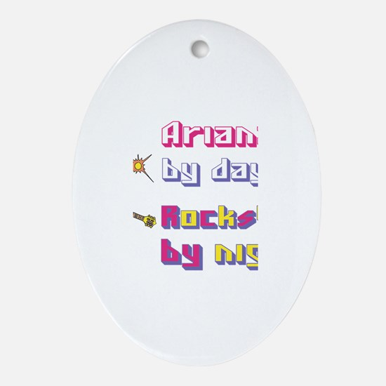 Ariana - Rock Star By Night Oval Ornament
