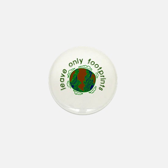 Leave Only Footprints Mini Button