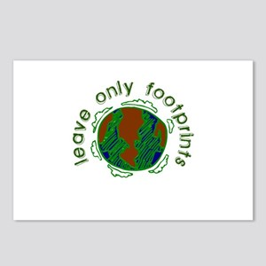 Leave Only Footprints Postcards (Package of 8)