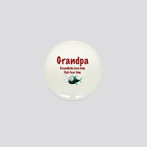 Grandpa - Fish fear him Mini Button