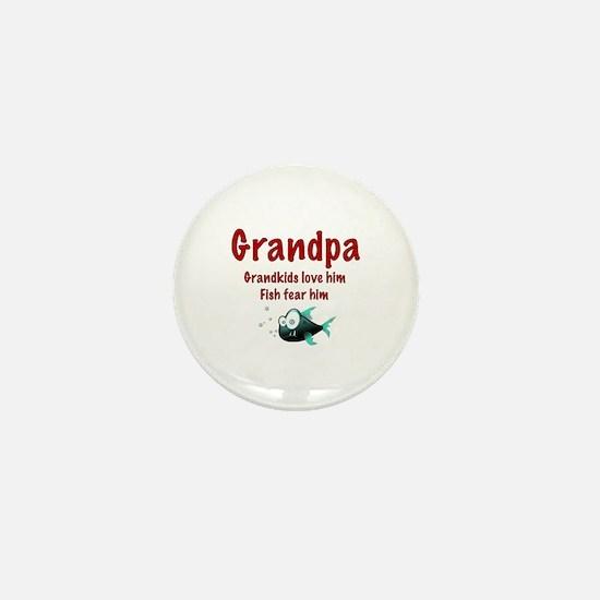 Grandpa - Fish fear him Mini Button