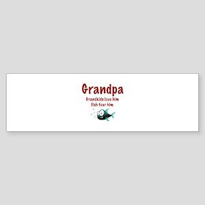 Grandpa - Fish fear him Bumper Sticker