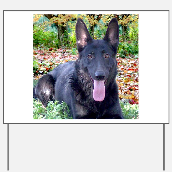 Black German Shepard Yard Sign