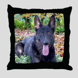 Black German Shepard Throw Pillow