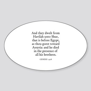 GENESIS 25:18 Oval Sticker
