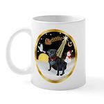 Night Flight/Pug (black) Mug