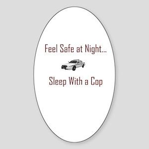 """feel safe"" Oval Sticker"