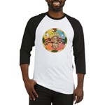 XmasMusic2/Dachshund (WH)#11 Baseball Jersey
