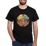 XmasMusic2/Dachshund (WH)#11 Dark T-Shirt