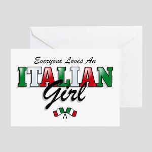 Love Italian Girls Greeting Card