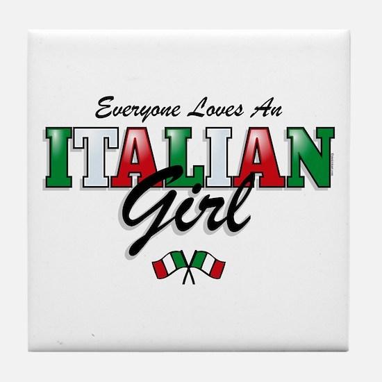 Love Italian Girls Tile Coaster
