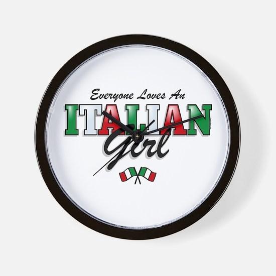 Love Italian Girls Wall Clock