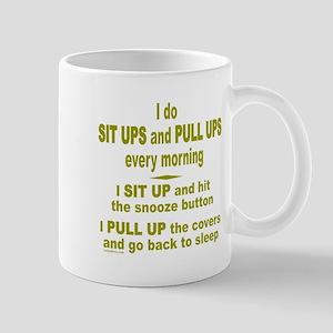SLEEPING LATE Mug