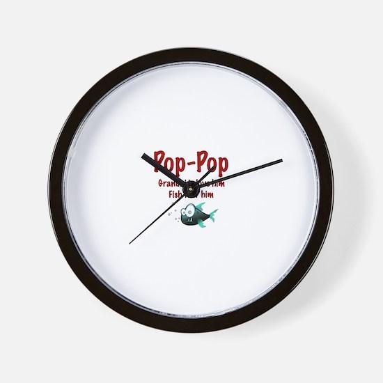 Pop-Pop - Fish fear him Wall Clock
