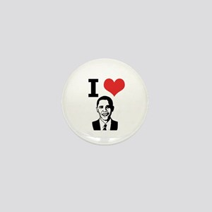 I Love Obama Mini Button