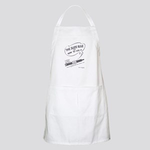 Slide Rule and How To Use It BBQ Apron