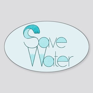 Save Water Oval Bumper Sticker