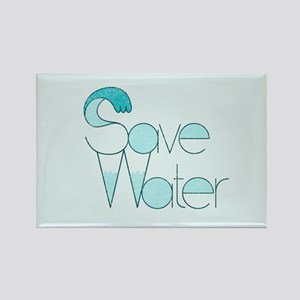 Save Water Rectangle Magnet