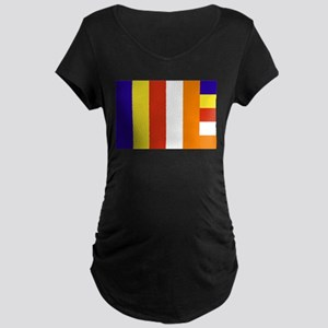 Buddhist Flag Maternity Dark T-Shirt