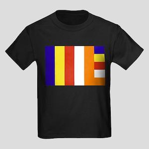 Buddhist Flag Kids Dark T-Shirt