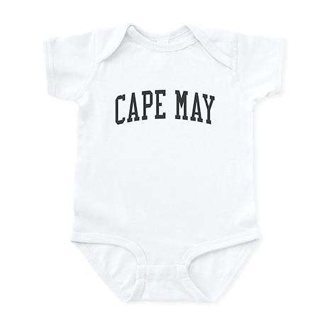 Cape May New Jersey NJ Black Infant Bodysuit