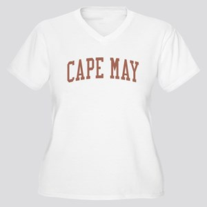 Cape May New Jersey NJ Red Women's Plus Size V-Nec
