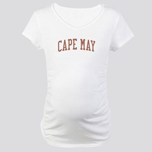 Cape May New Jersey NJ Red Maternity T-Shirt