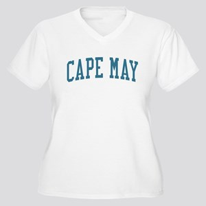 Cape May New Jersey NJ Blue Women's Plus Size V-Ne