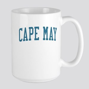 Cape May New Jersey NJ Blue Large Mug