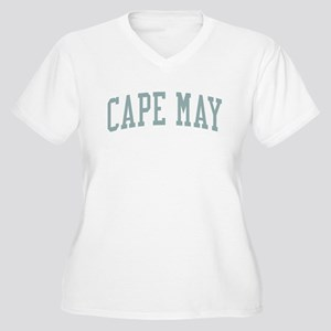 Cape May New Jersey NJ Green Women's Plus Size V-N