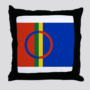 Flag of the Sami People Throw Pillow