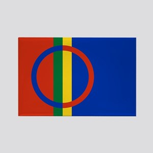 Flag of the Sami People Rectangle Magnet