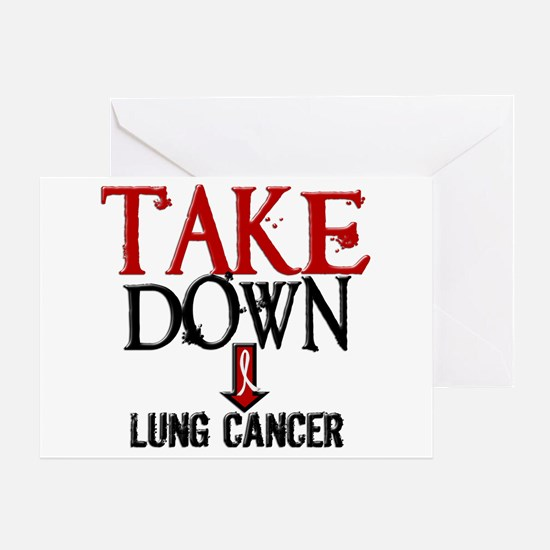 Take Down Lung Cancer 2 Greeting Card