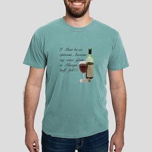 Wine Glass Half Full Optimis T-Shirt