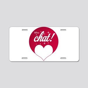 WhoChat Logo Aluminum License Plate