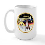 XmasDove/Basenji #2 Large Mug