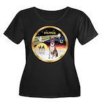 XmasDove/Basenji #2 Women's Plus Size Scoop Neck D