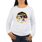 XmasDove/Basenji #2 Women's Long Sleeve T-Shirt
