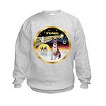 XmasDove/Basenji #2 Kids Sweatshirt