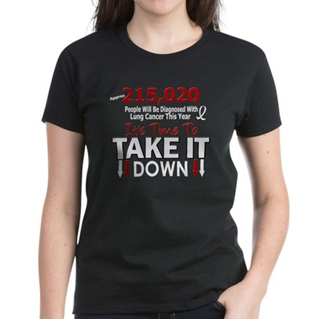 Take Down Lung Cancer 4 Women's Dark T-Shirt