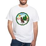 Take Off1/Lab (choc) White T-Shirt